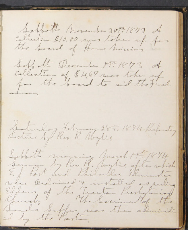 Sessional Records of the 1st Presbyterian Church of Trenton, Delaware Co., Ohio, 1831 (p. 117)