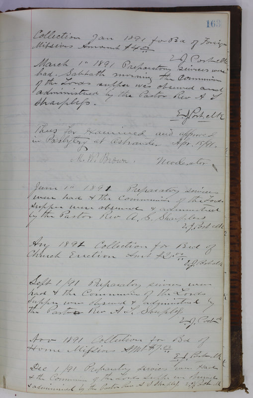 Sessional Records of the 1st Presbyterian Church of Trenton Delaware County Ohio 1873-1937 (p. 153)