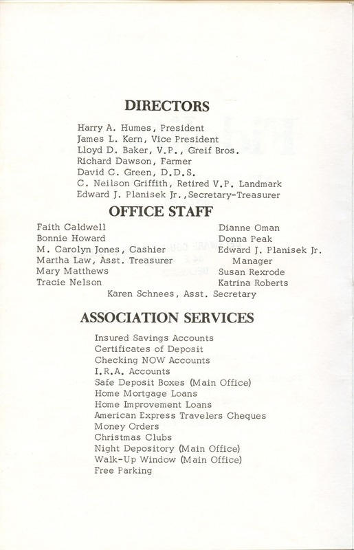 Fidelity Federal Savings and Loan Association 100 Years (p. 3)