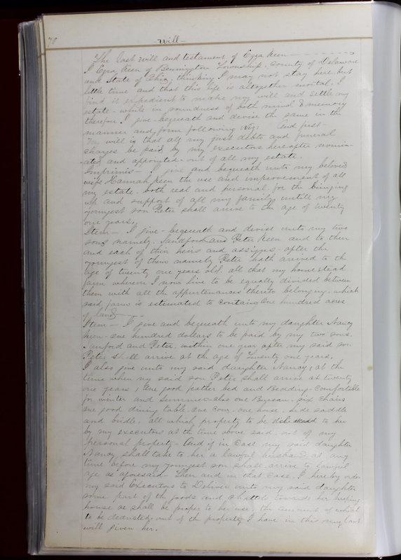 Delaware County Ohio Will Records Vol. 1 1812-1835 (p. 102)