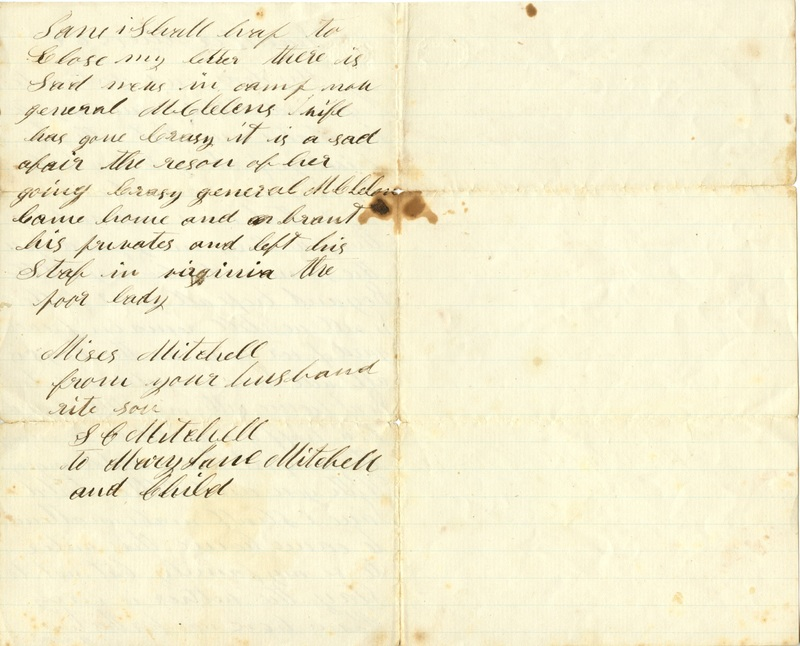 Mitchell Family Civil War Letters (p. 22)