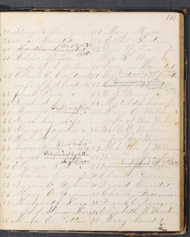 Sessional Records of the 1st Presbyterian Church of Trenton, Delaware Co., Ohio, 1831 (p. 107)
