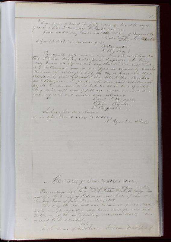 Delaware County Ohio Will Records Vol. 1 1812-1835 (p. 149)
