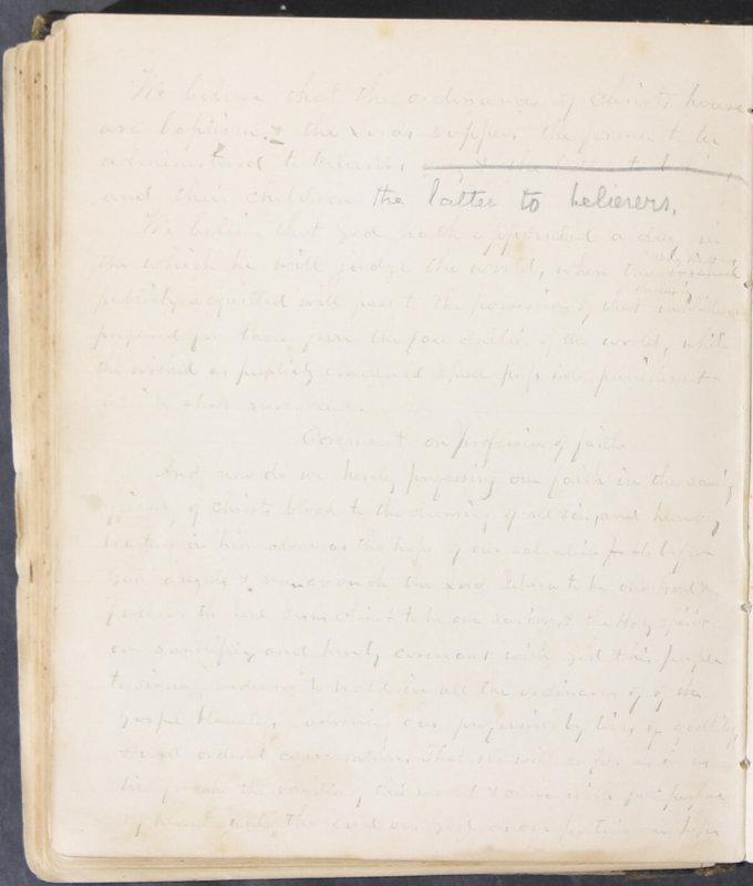 Sessional Records of the 1st Presbyterian Church of Trenton, Delaware Co., Ohio, 1831 (p. 124)