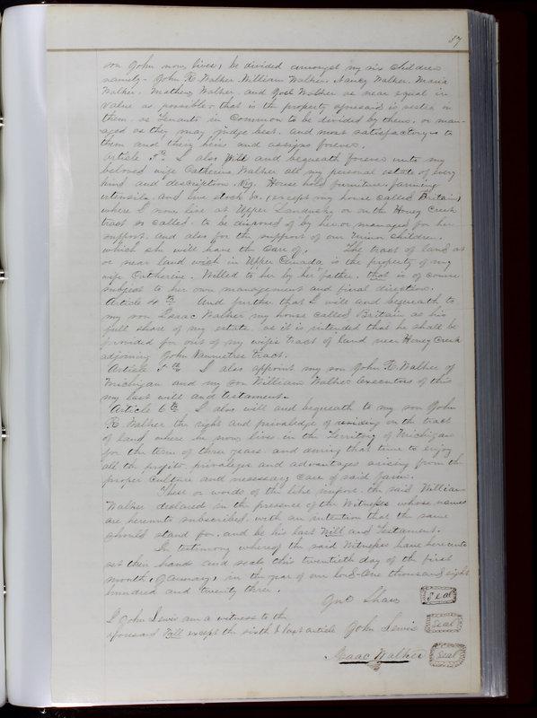 Delaware County Ohio Will Records Vol. 1 1812-1835 (p. 69)