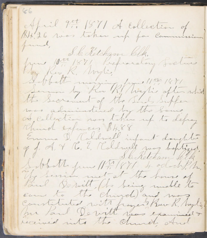 Sessional Records of the 1st Presbyterian Church of Trenton, Delaware Co., Ohio, 1831 (p. 92)