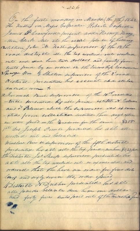 Record Book of Berkshire Township No. 2 1807-1843 (p. 150)