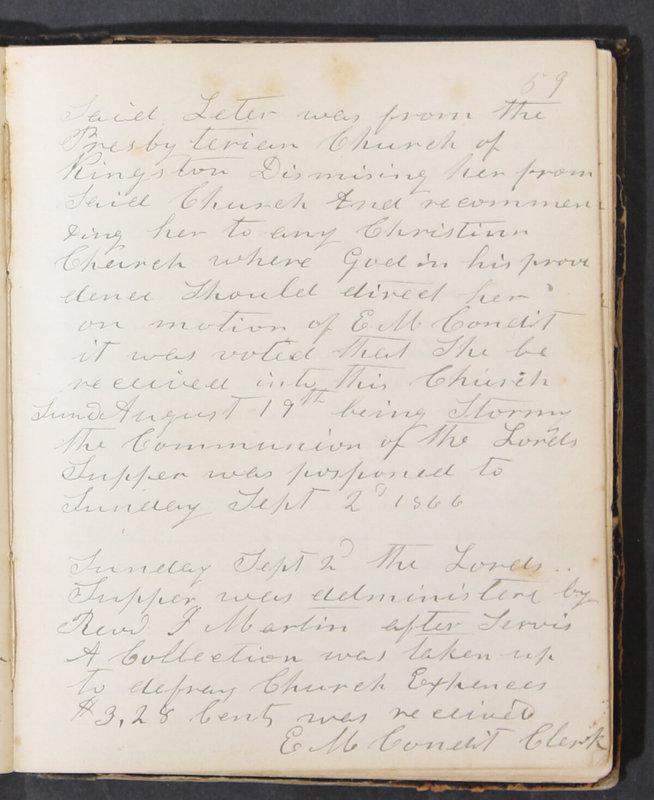 Sessional Records of the 1st Presbyterian Church of Trenton, Delaware Co., Ohio, 1831 (p. 65)