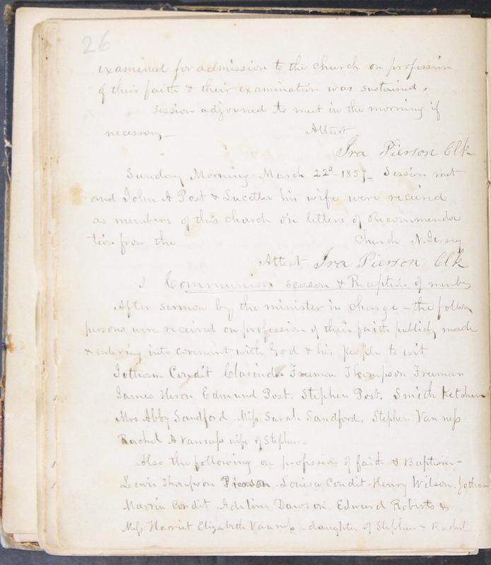 Sessional Records of the 1st Presbyterian Church of Trenton, Delaware Co., Ohio, 1831 (p. 32)
