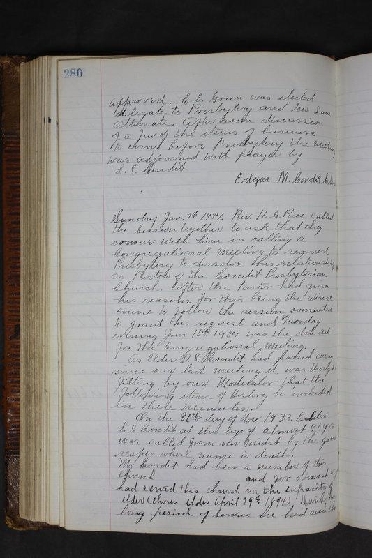 Sessional Records of the 1st Presbyterian Church of Trenton Delaware County Ohio 1873-1937 (p. 267)