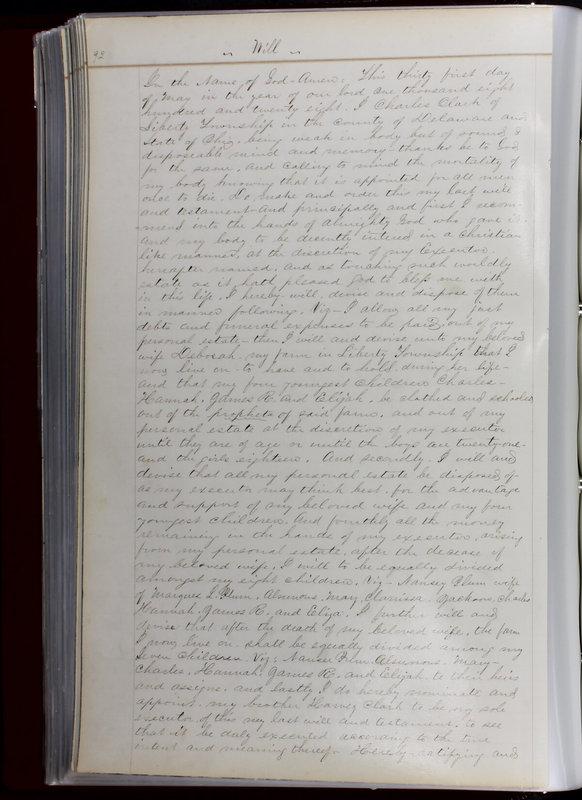 Delaware County Ohio Will Records Vol. 1 1812-1835 (p. 124)