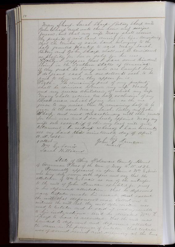 Delaware County Ohio Will Records Vol. 1 1812-1835 (p. 112)