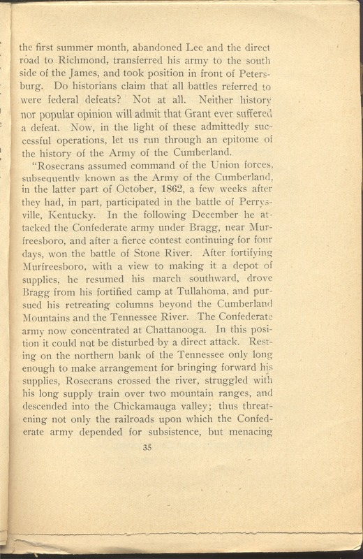 Major-General William Stark Rosecrans (p. 39)