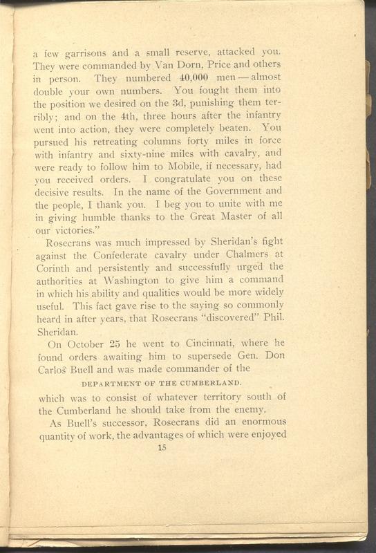 Major-General William Stark Rosecrans (p. 19)
