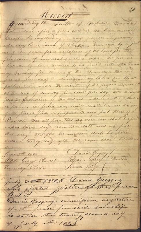 Record Book of Berkshire Township No. 2 1807-1843 (p. 23)