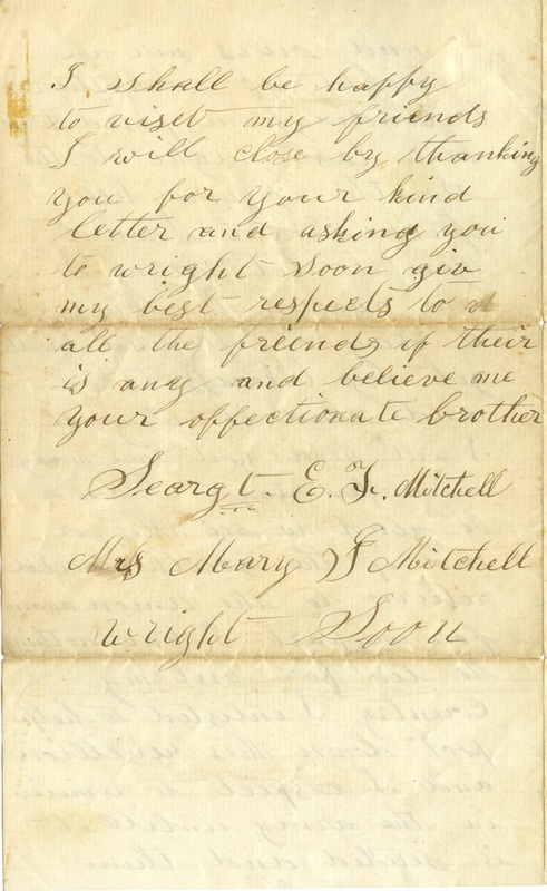 Mitchell Family Civil War Letters (p. 43)
