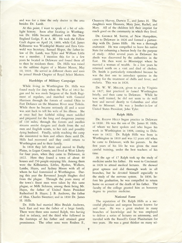 A Short History of Medicine and the Physicians Of Delaware County, Ohio (p. 7)