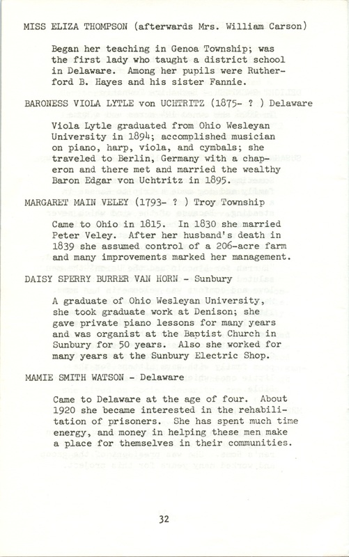Some Delaware County Women Past and Present (p. 37)