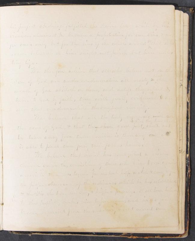 Sessional Records of the 1st Presbyterian Church of Trenton, Delaware Co., Ohio, 1831 (p. 123)