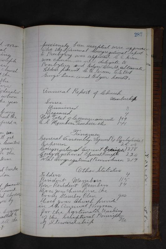 Sessional Records of the 1st Presbyterian Church of Trenton Delaware County Ohio 1873-1937 (p. 274)