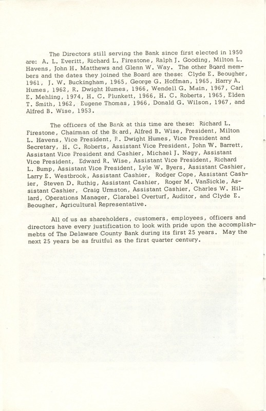 Delaware County Bank 1950-1975 (p. 15)
