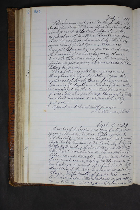 Sessional Records of the 1st Presbyterian Church of Trenton Delaware County Ohio 1873-1937 (p. 242)