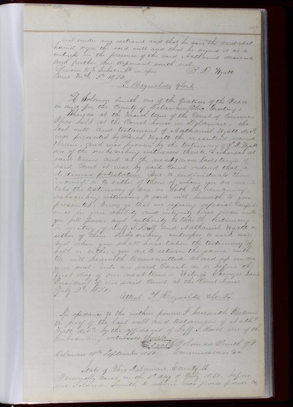 Delaware County Ohio Will Records Vol. 1 1812-1835 (p. 139)