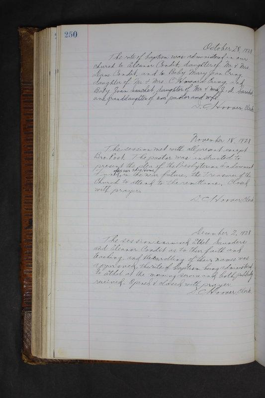 Sessional Records of the 1st Presbyterian Church of Trenton Delaware County Ohio 1873-1937 (p. 238)