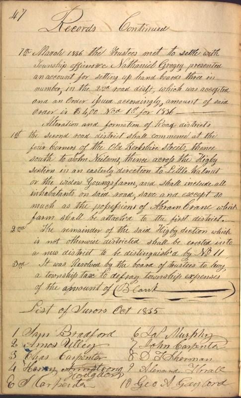 Record Book of Berkshire Township No. 2 1807-1843 (p. 60)