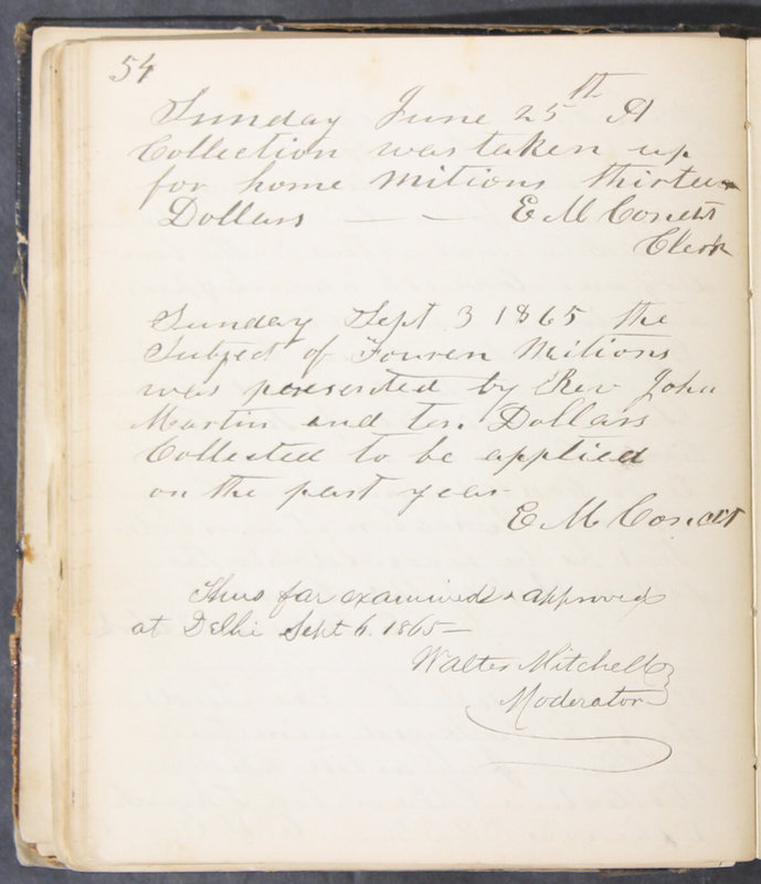 Sessional Records of the 1st Presbyterian Church of Trenton, Delaware Co., Ohio, 1831 (p. 60)