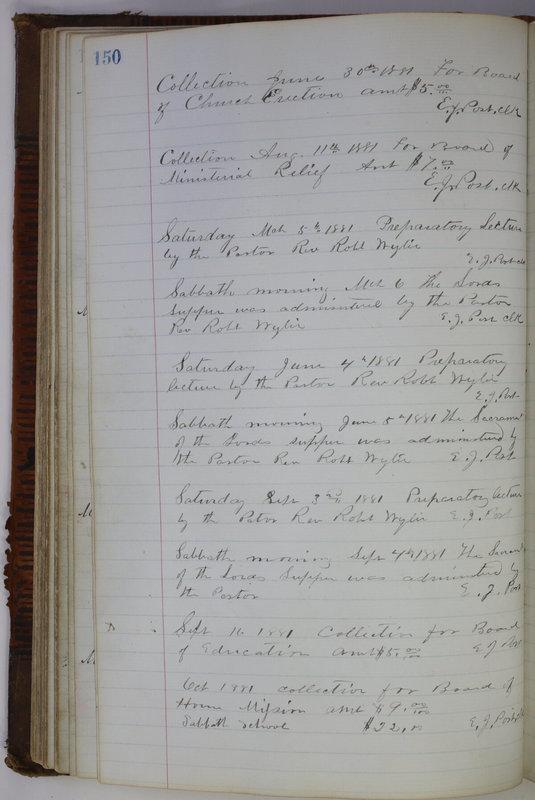 Sessional Records of the 1st Presbyterian Church of Trenton Delaware County Ohio 1873-1937 (p. 140)