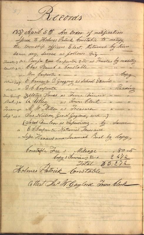 Record Book of Berkshire Township No. 2 1807-1843 (p. 72)