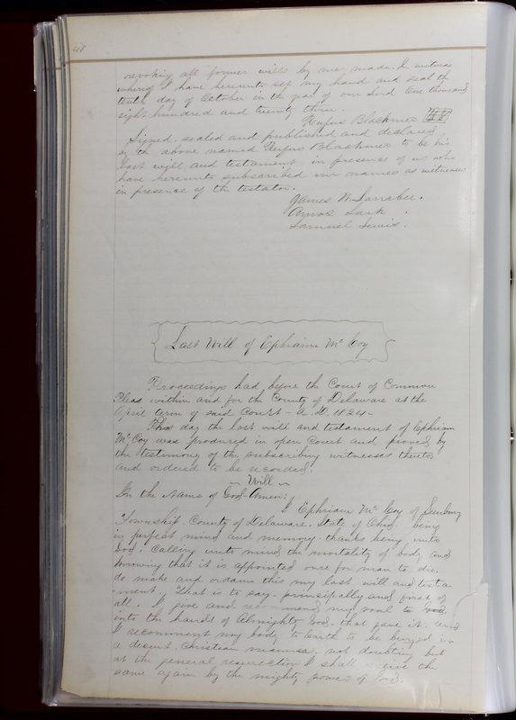 Delaware County Ohio Will Records Vol. 1 1812-1835 (p. 80)