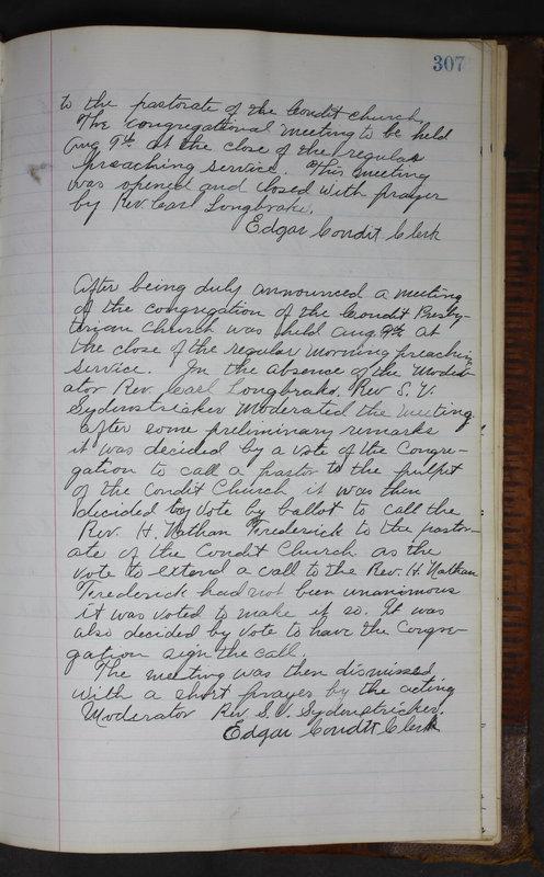 Sessional Records of the 1st Presbyterian Church of Trenton Delaware County Ohio 1873-1937 (p. 294)