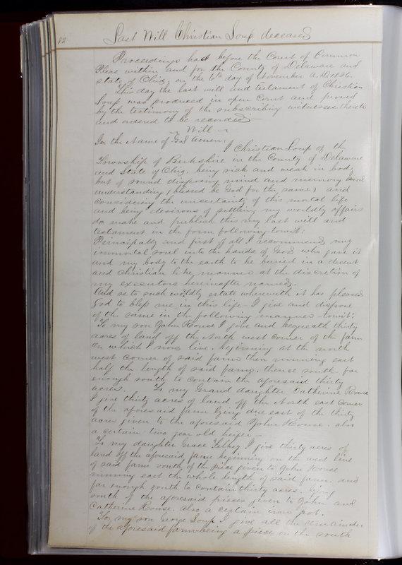 Delaware County Ohio Will Records Vol. 1 1812-1835 (p. 114)