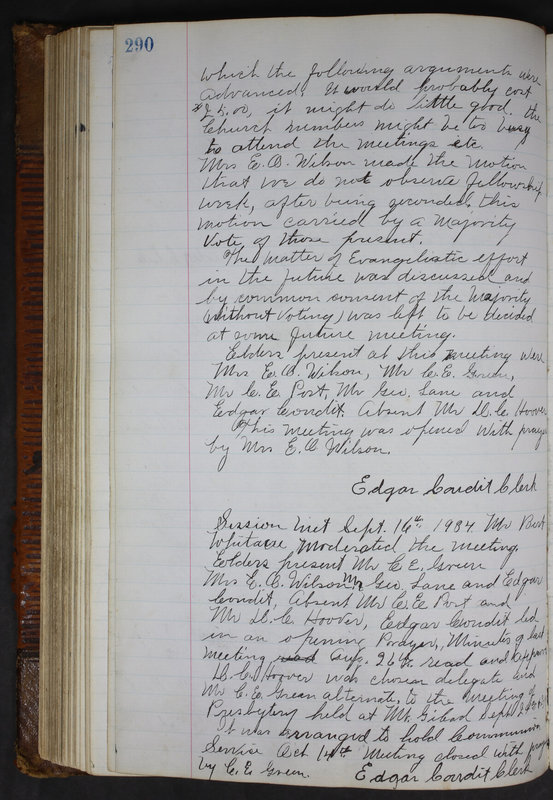 Sessional Records of the 1st Presbyterian Church of Trenton Delaware County Ohio 1873-1937 (p. 277)