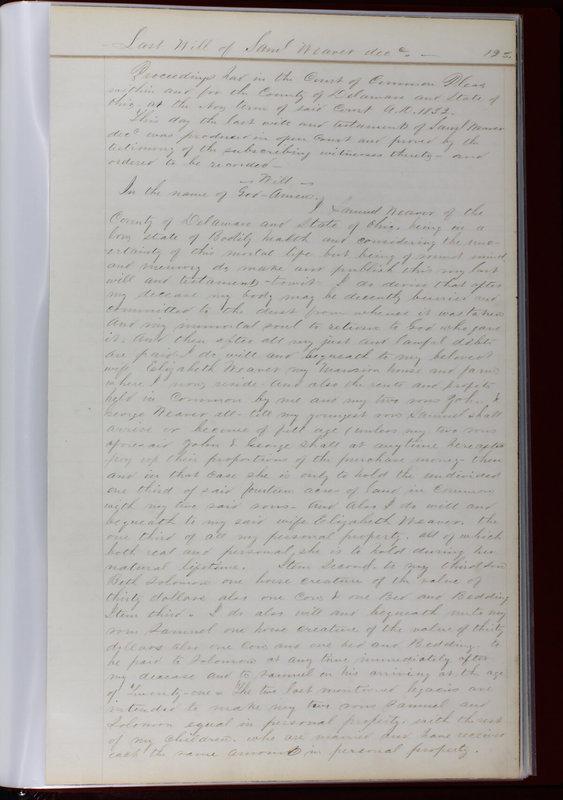 Delaware County Ohio Will Records Vol. 1 1812-1835 (p. 155)