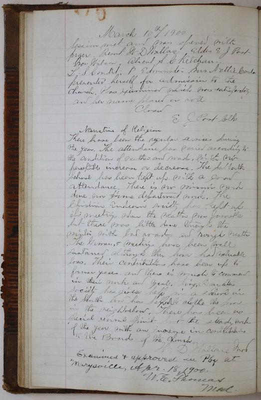 Sessional Records of the 1st Presbyterian Church of Trenton Delaware County Ohio 1873-1937 (p. 54)