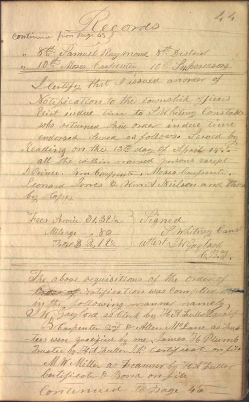 Record Book of Berkshire Township No. 2 1807-1843 (p. 57)