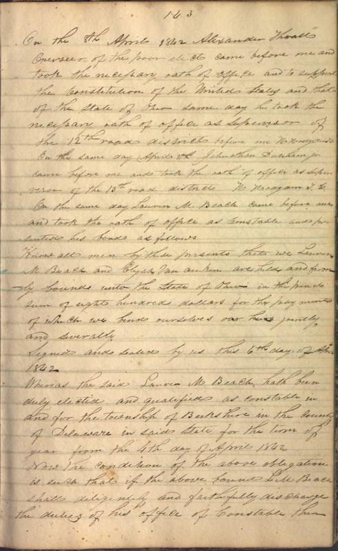 Record Book of Berkshire Township No. 2 1807-1843 (p. 157)