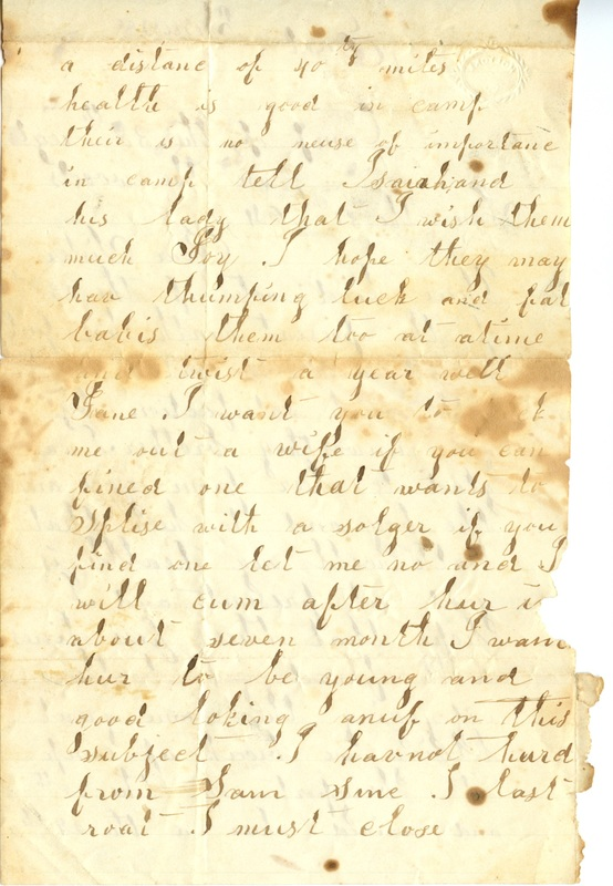 Mitchell Family Civil War Letters (p. 50)
