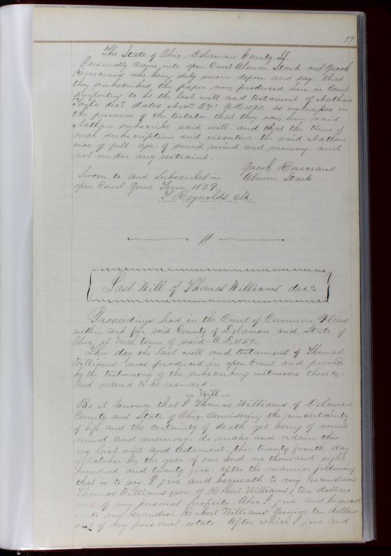 Delaware County Ohio Will Records Vol. 1 1812-1835 (p. 131)