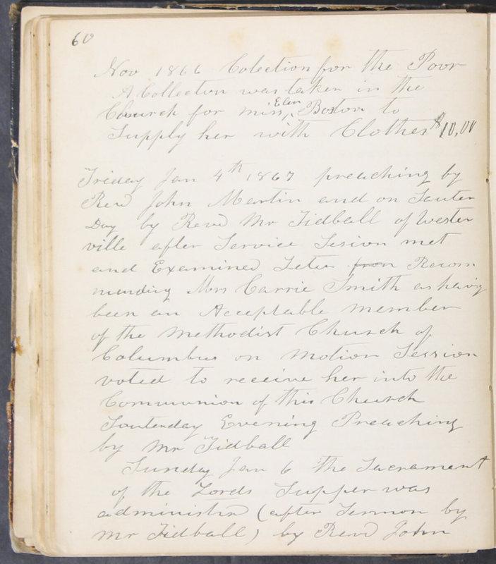 Sessional Records of the 1st Presbyterian Church of Trenton, Delaware Co., Ohio, 1831 (p. 66)