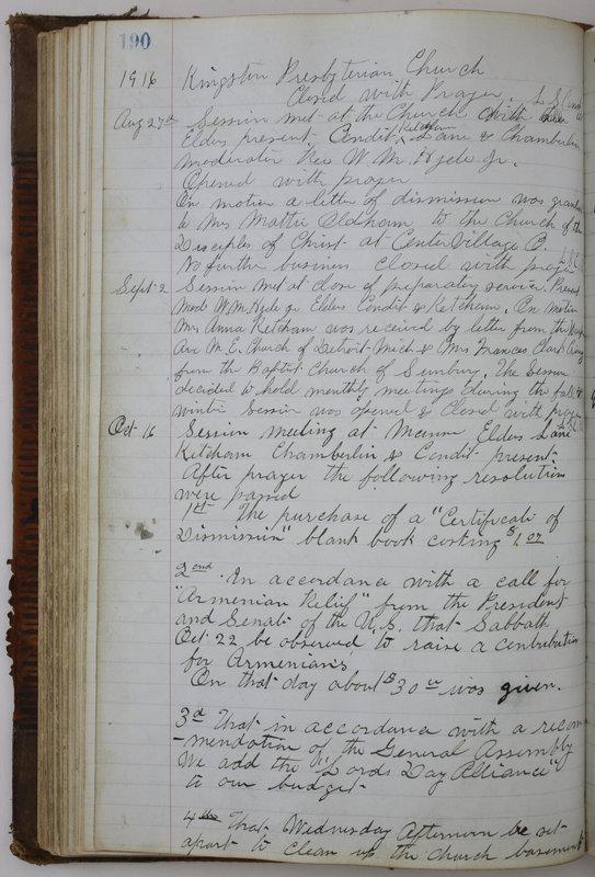 Sessional Records of the 1st Presbyterian Church of Trenton Delaware County Ohio 1873-1937 (p. 178)