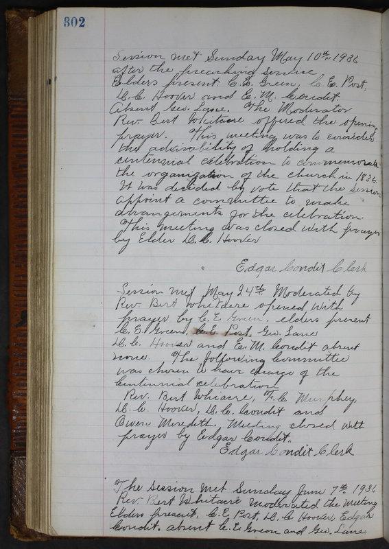 Sessional Records of the 1st Presbyterian Church of Trenton Delaware County Ohio 1873-1937 (p. 289)
