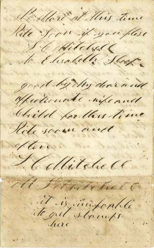 Mitchell Family Civil War Letters (p. 13)