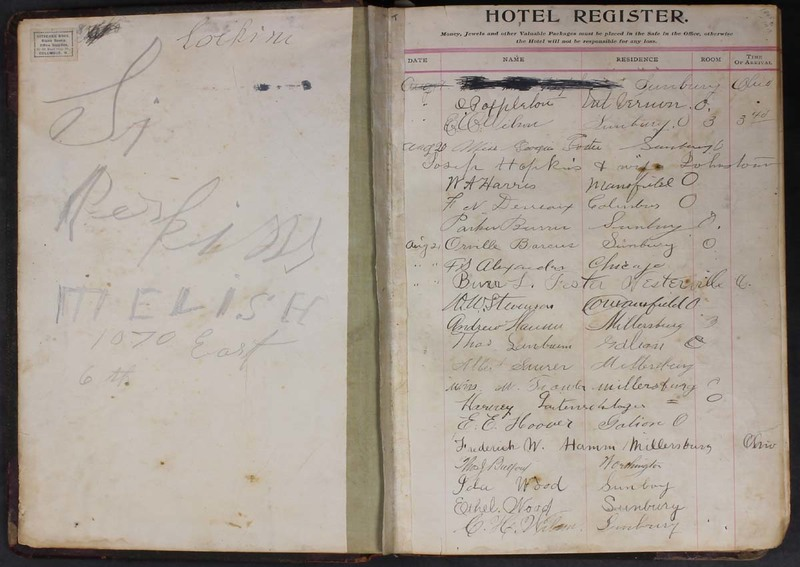 Hopkins House Day Book 1905-1913 (p. 2)