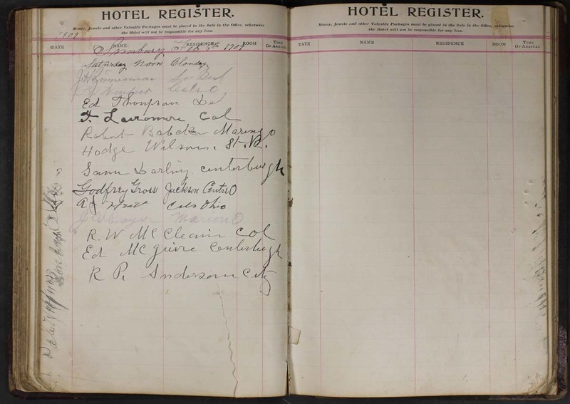 Hopkins House Day Book 1905-1913 (p. 78)