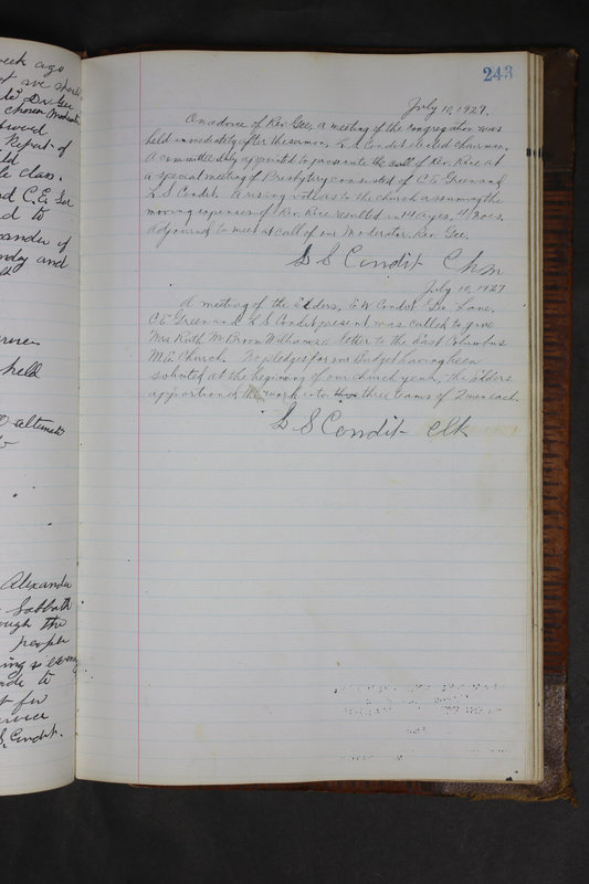 Sessional Records of the 1st Presbyterian Church of Trenton Delaware County Ohio 1873-1937 (p. 231)