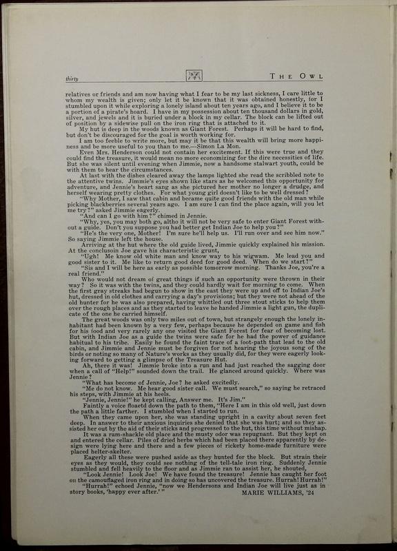 The Owl, Vol. II, 1922 (p.32)